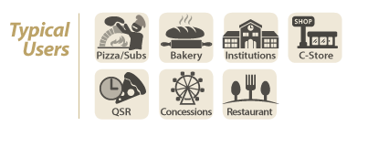 pizza subs bakery institutions, c store, qtr, concession, restaurant