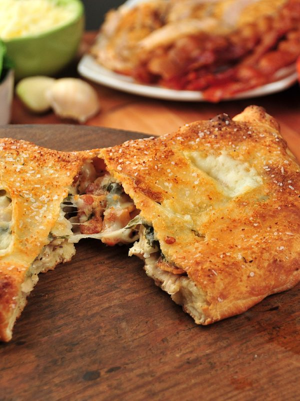 chicken bacon ranch calzone - freedom with dough