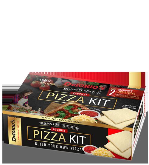 2 pk rectangle dough flats pizza kit
