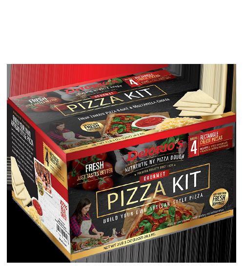 4 rectangle dough flats pizza kit