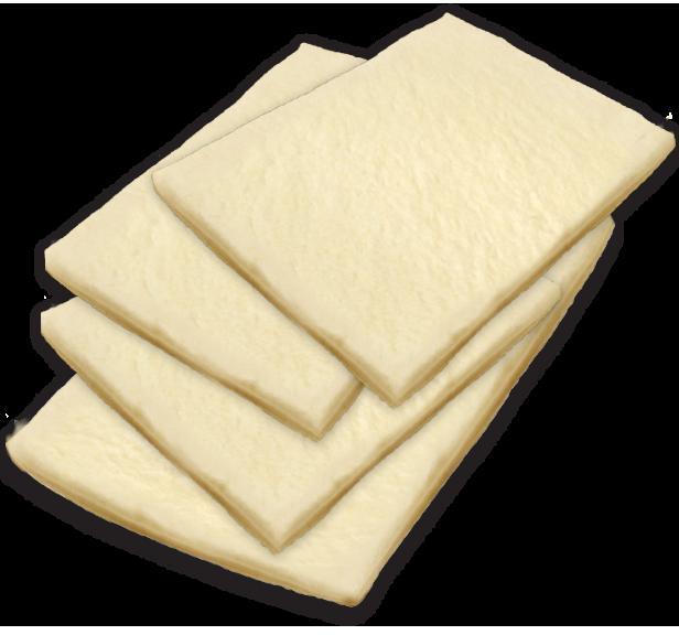 4 rectangle dough flats