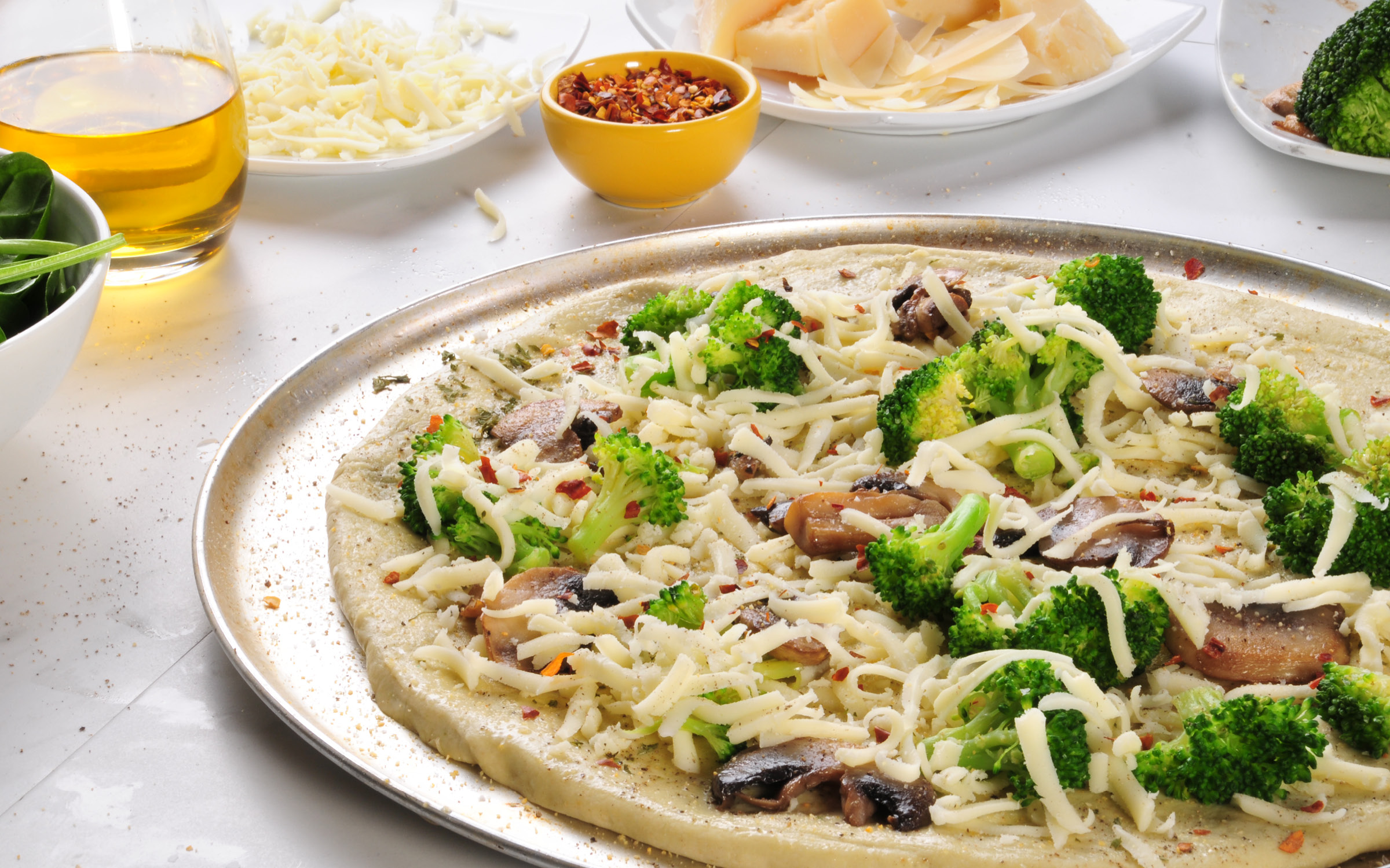 Broccoli Dough Pizza