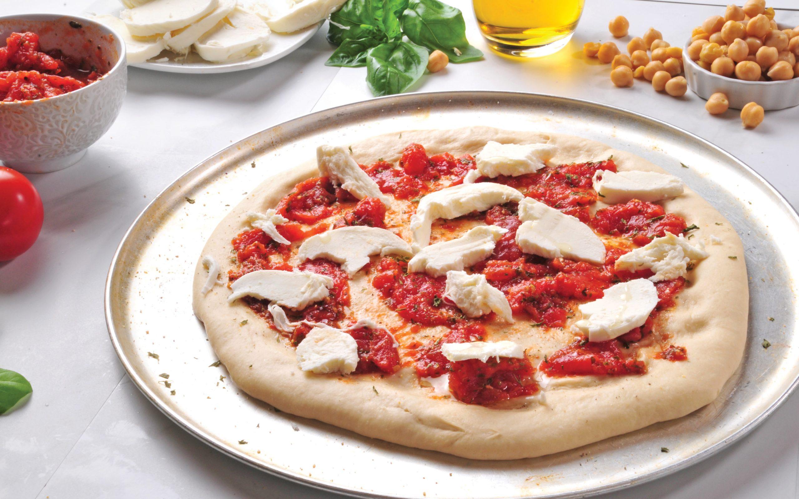 Chickpea dough Pizza